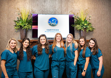 Students at Competitive Edge Dental Assisting Academy